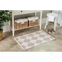 Safavieh Spa 2400 Gram Harlequin Cream/ Beige 21 x 34 Bath Rug (Set of 2) - 21 x 34