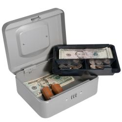 Multipurpose Eight-inch Gray Steel Cash Box with Combination Lock