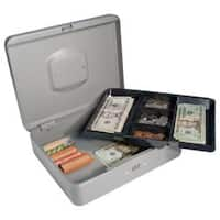 12-inch Grey Cash Box with Combination Lock