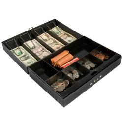 Cash Box and 6-compartment Tray with Money Clip