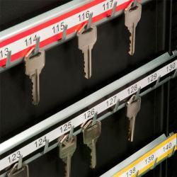 Black Steel 200-position Key Safe/Organizer with Key Lock