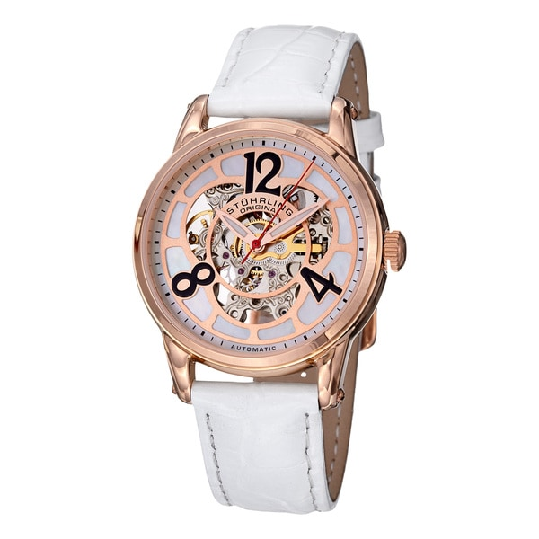 Stuhrling Original Women's Rosepta Leather Strap Watch