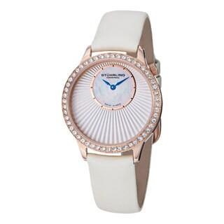 Stuhrling Original Women's Radiant Ivory Leather Strap Watch