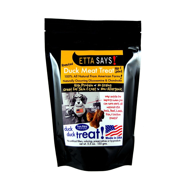 Roasted Duck Meat Treats-Med/Large Hip & Joint (5.5 ounces)