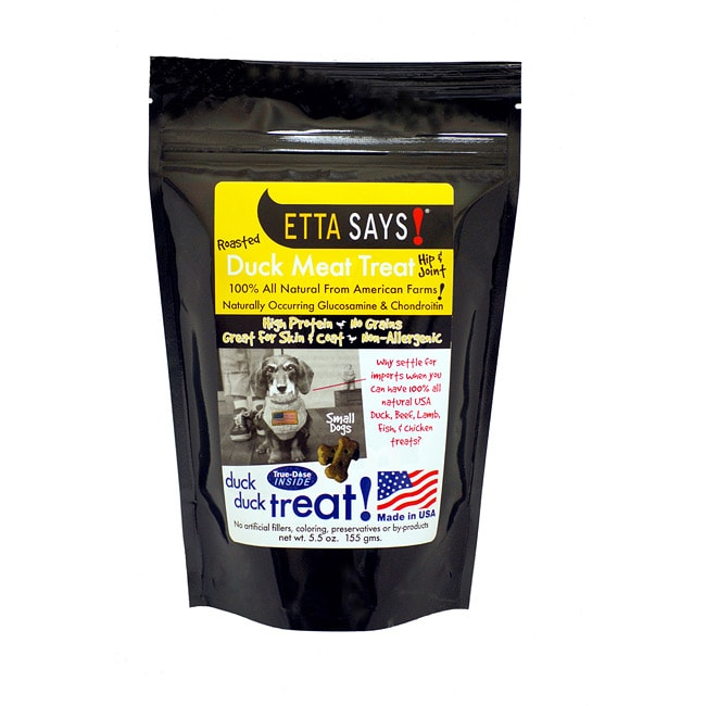 Roasted Duck Meat Treats-Small Dog Hip & Joint (5.5 ounces)