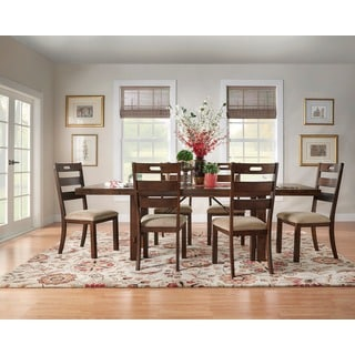 TRIBECCA HOME Swindon Rustic Oak Turnbuckle Extending Dining Set