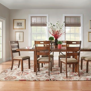 Swindon Rustic Oak Turnbuckle Extending Dining Set by iNSPIRE Q Classic