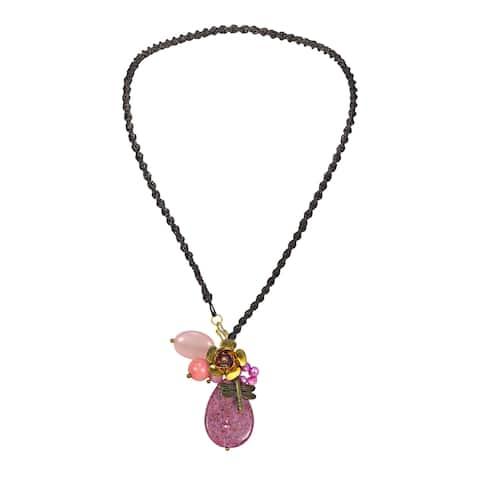 Handmade Teardrop Goldstone Cluster Necklace (Thailand)