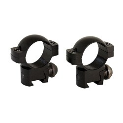 Aim Sports Black One-inch Low-profile 3/8 Dovetail Scope Rings - Thumbnail 0