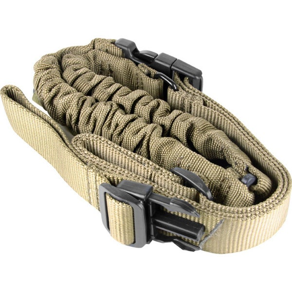 One-point Tan Fabric, Steel Clip Bungee Sling