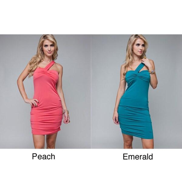 Stanzino Women's One-shoulder Cinched Sheath Dress