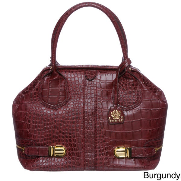 Jessica Simpson Roxy Frame Croco-embossed Satchel Bag