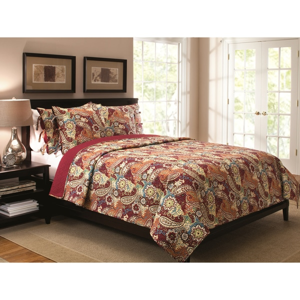 Colonial Paisley 3-piece Quilt Set