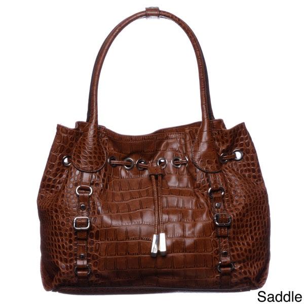 Jessica Simpson Steffania Drawstring Embossed Croco Tote Bag
