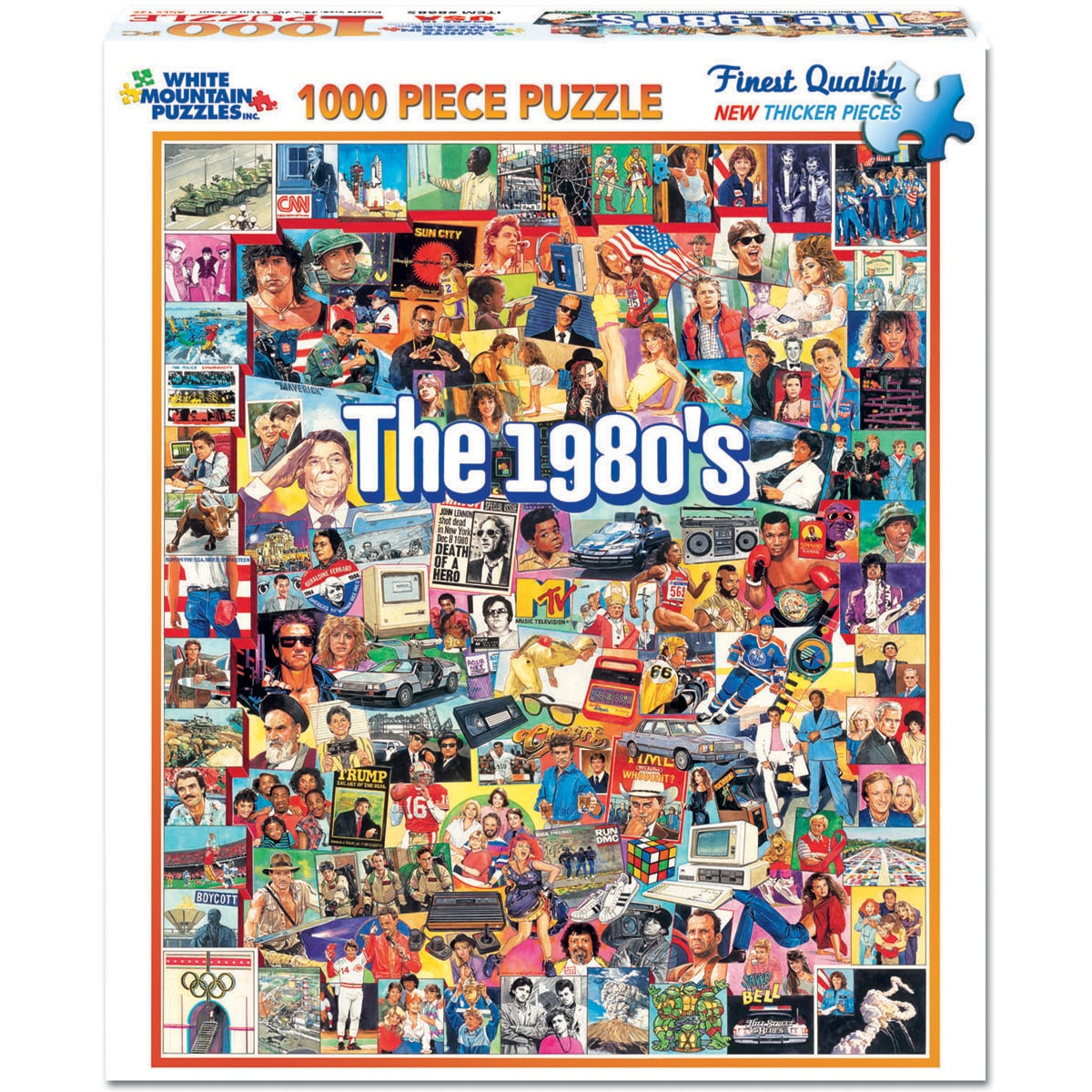 The Eighties 1000-piece Jigsaw Puzzle - Thumbnail 0