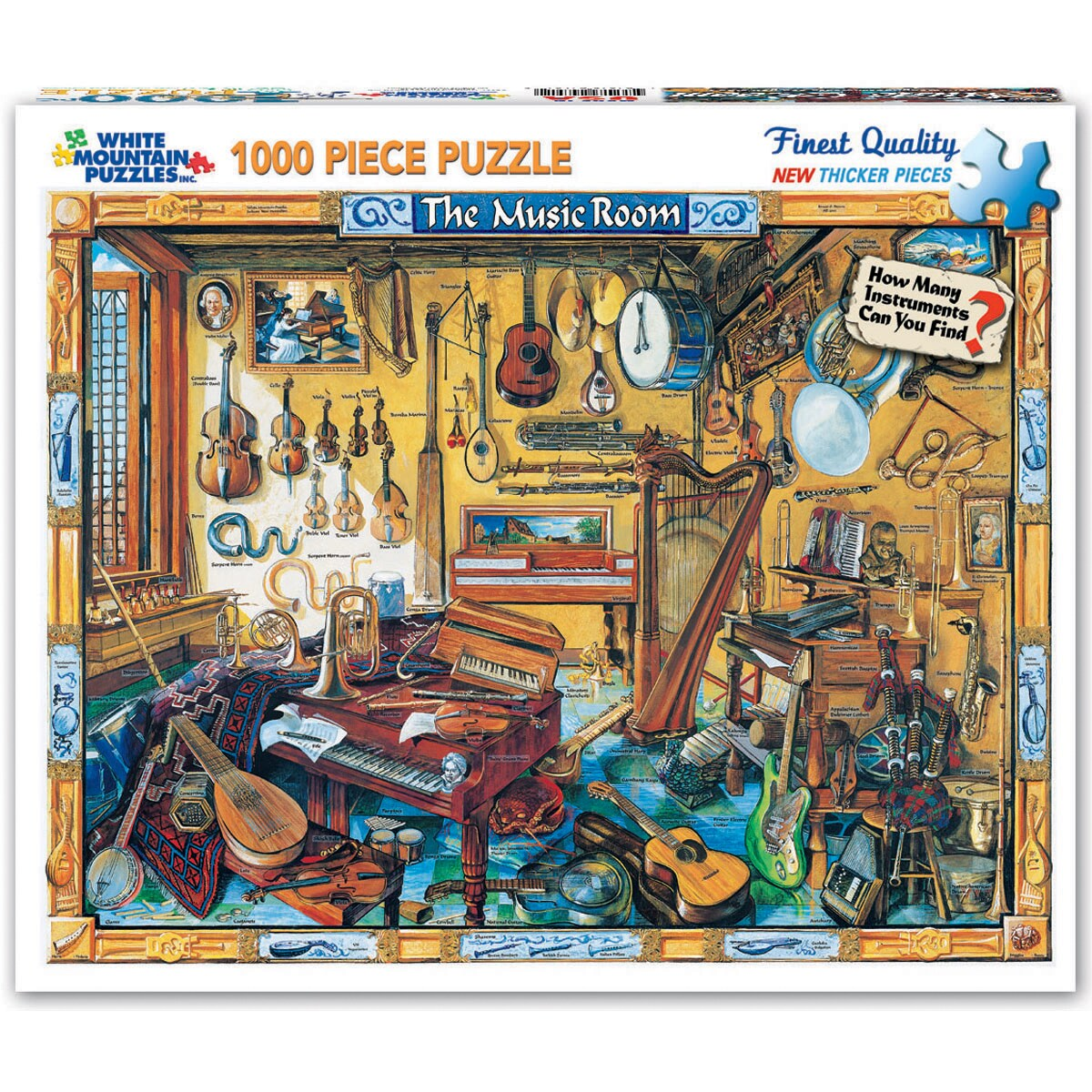 Shop Music Room 1000 Piece Jigsaw Puzzle Free Shipping