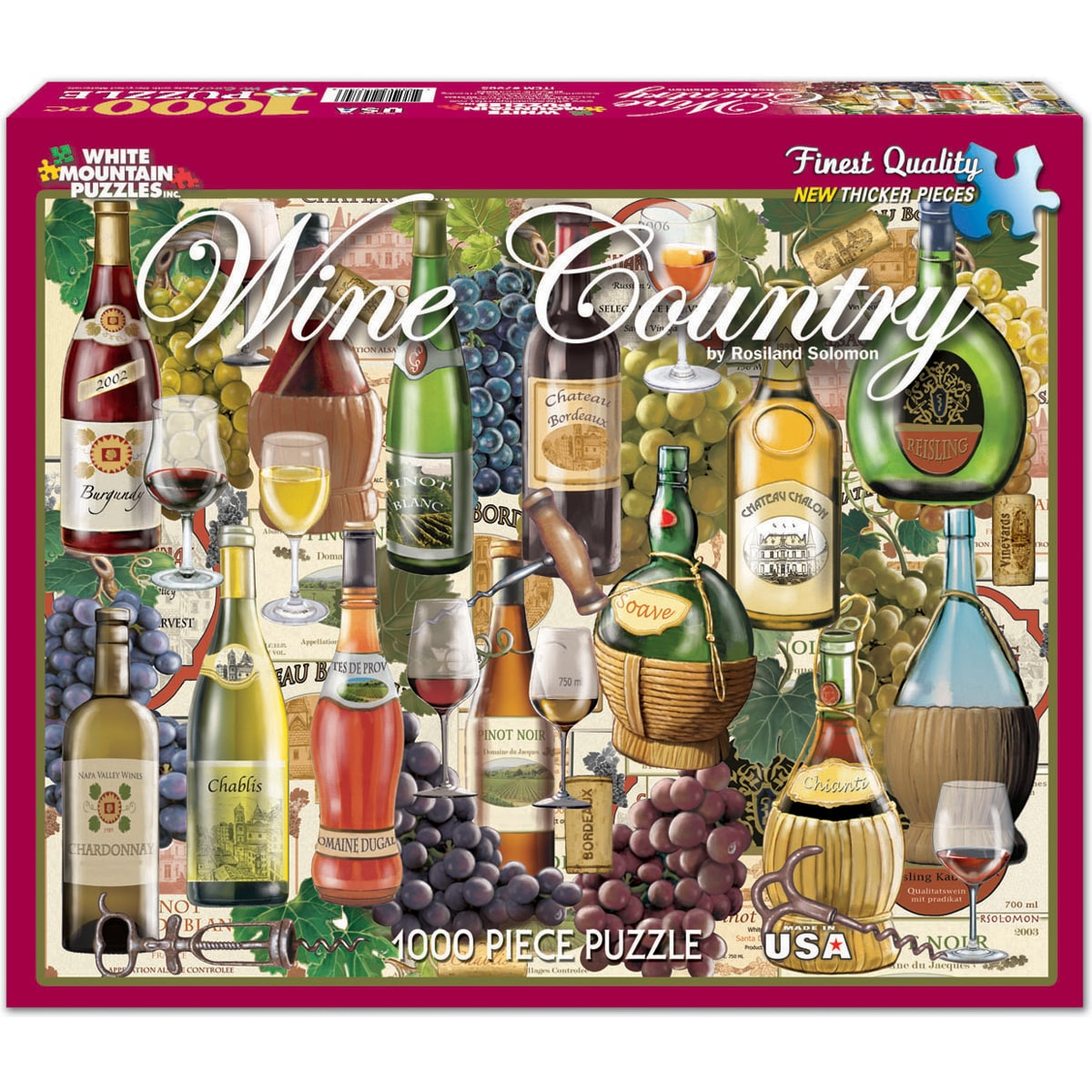 White Mountain Puzzles Wine (Red) Country 1000-piece Jigs...