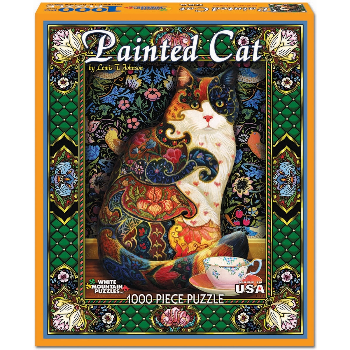 Shop Painted Cat 1000 Piece Jigsaw Puzzle Free Shipping