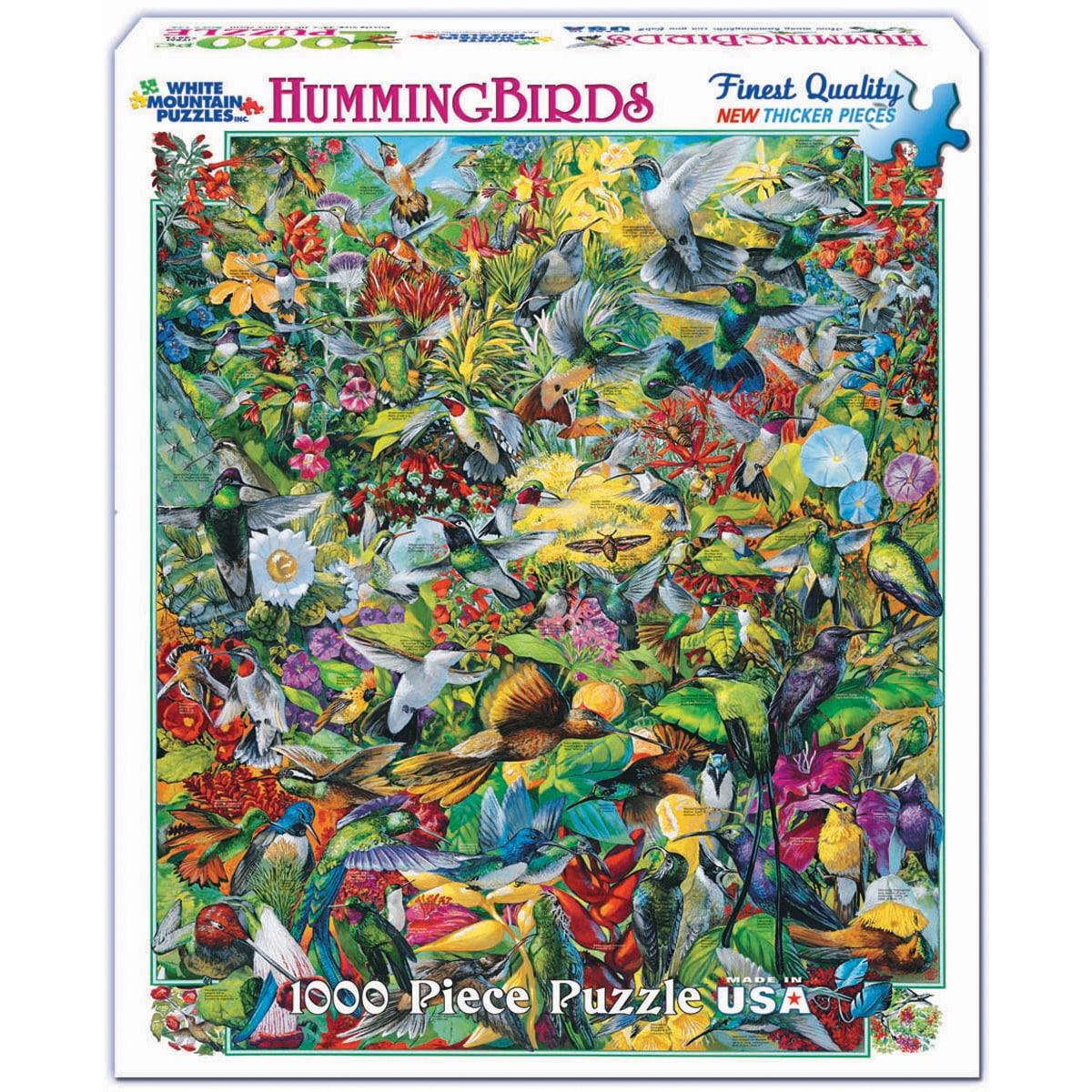 White Mountain Puzzles Hummingbirds 1000-piece Jigsaw Puz...