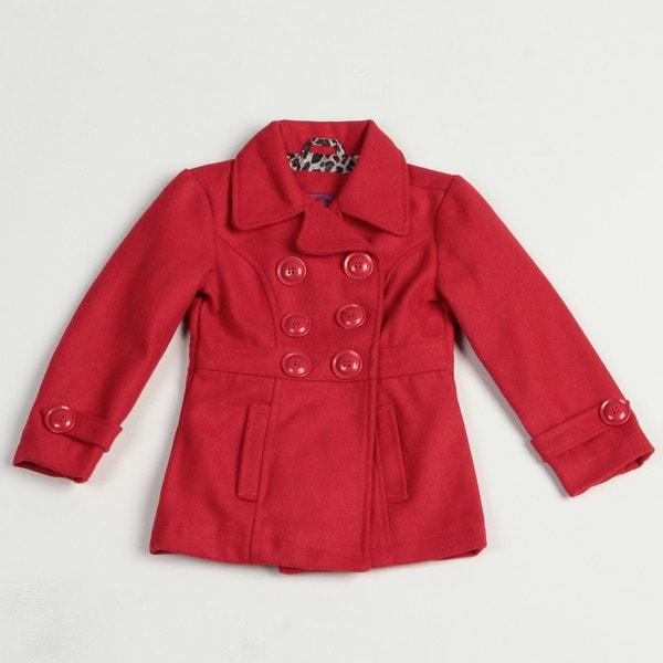 Velvet Chic Girl's Double Breasted Wool Blend Jacket