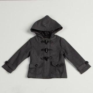 Velvet Chic Girl's Charcoal Hooded Wool Blend Jacket FINAL SALE