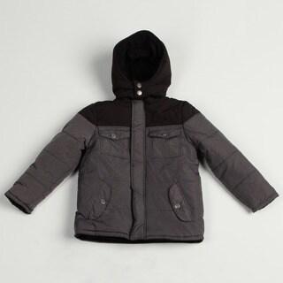 Airwalk Boy's Charcoal Colorblock Puffer Jacket