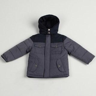 Airwalk Boy's Denim Colorblock Puffer Jacket FINAL SALE