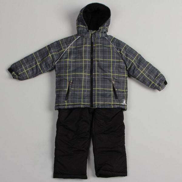 Rugged Bear Boys' Charcoal Snowsuit