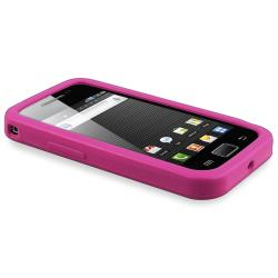 Hot Pink Flower Silicone Case/ Screen Protector for Samsung Galaxy Ace - Thumbnail 2