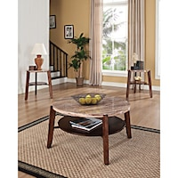 shop ashley t210 13 set of 3 fantell dark brown occasional table set