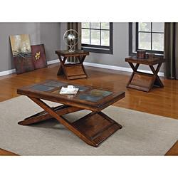 Dark Oak Finish 3-piece Coffee/ Table Set - Thumbnail 0