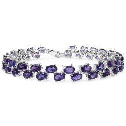 Malaika Genuine Amethyst Sterling Silver Bracelet