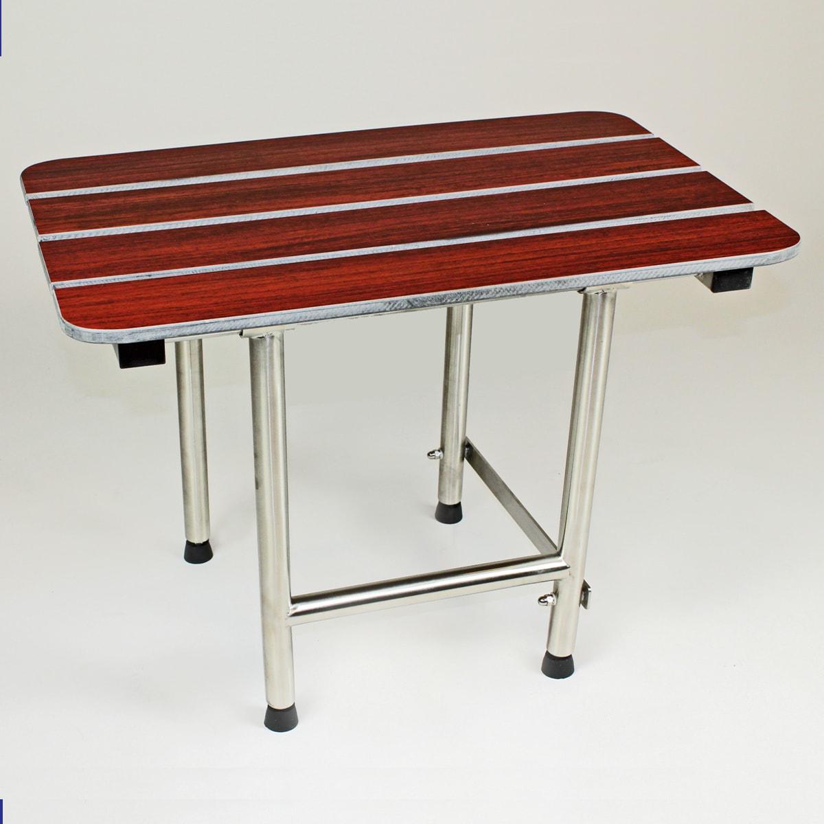 Shop CSI Bathware 22-inch Rectangular Phenolic Wood Shower Seat ...
