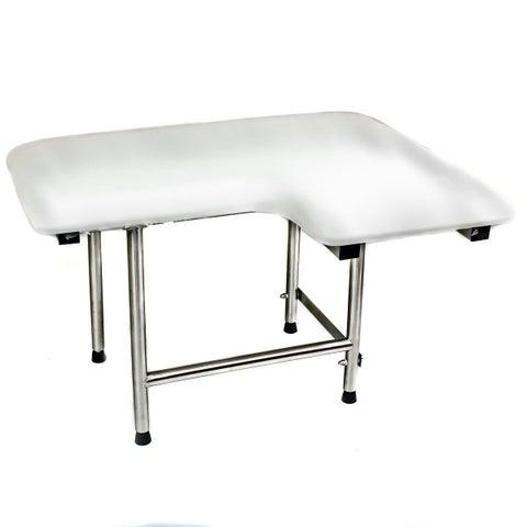 CSI Bathware 28-inch Left Hand Padded Shower Seat, Swing Down Legs