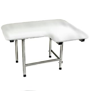 CSI Bathware 28-inch Left Hand Padded Shower Seat, Swing Down Legs