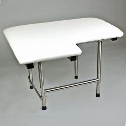 CSI Bathware 28-inch Right Hand Padded Shower Seat, Swing Down Legs