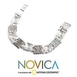 Sterling Silver 'Energy' Link Bracelet (Peru)