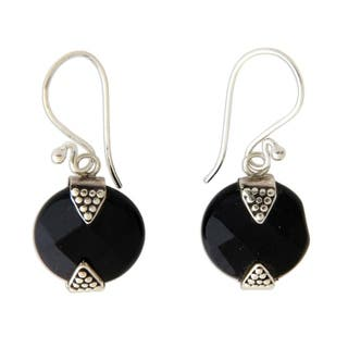 Handmade Sterling Silver Sylph Onyx Earrings (Indonesia)|https://ak1.ostkcdn.com/images/products/6782806/P14321204.jpg?impolicy=medium