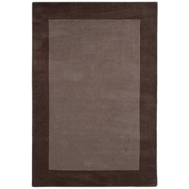 Hand-tufted Grey/ Brown Rug (7'6 x 9'6)