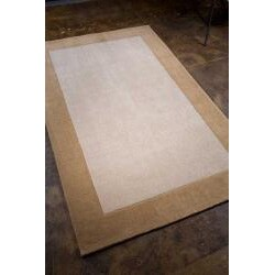 Hand-tufted Sand/ Tan Rug (2' x 3') - Thumbnail 1