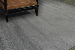Hand-tufted Grey Wool Blend Rug (3'6 x 5'6) - Thumbnail 2