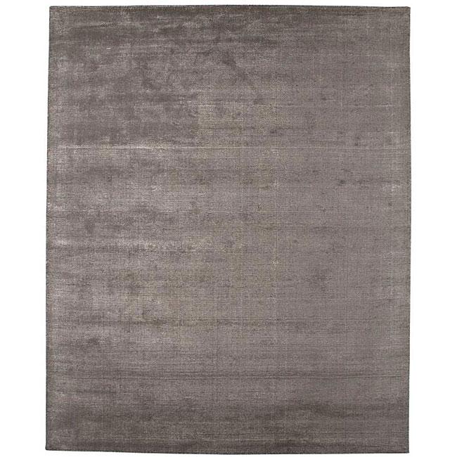 Hand-tufted Grey Wool Blend Rug (3'6 x 5'6)