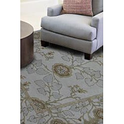 Hand-tufted TAC-963F Ivory Wool Rug (2'6 x 8')