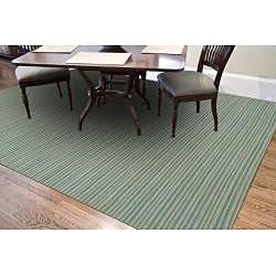 Blue Flat Weave 100 Percent Wool Rug (2' 6 X 8')