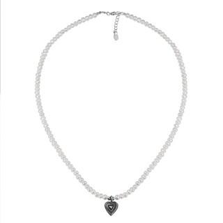 Handmade Karen White Pearl/ Heart Pendant Necklace (Thailand)