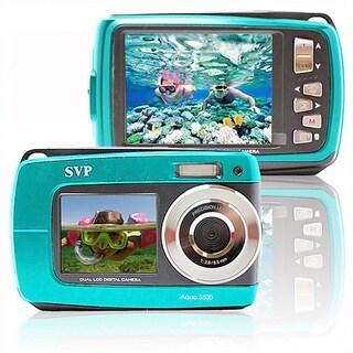 Aqua 5500 18MP Dual Screen Waterproof Blue Digital Camera