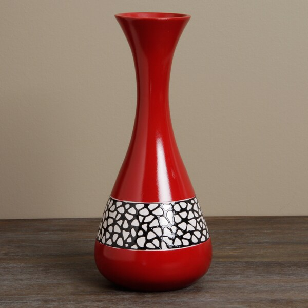Shop Vitraz Red Decorative Vase Peru Free Shipping Today