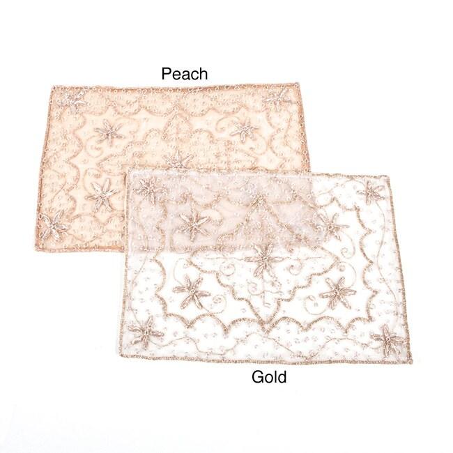 Handmade Beaded Tray Cloth (set of 2)
