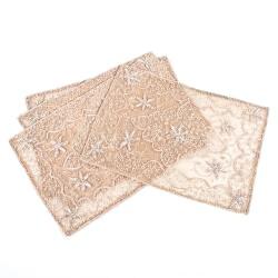 Handmade Beaded Tray Cloth (set of 2) - Thumbnail 2