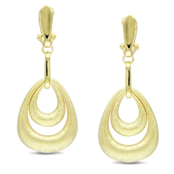 M by Miadora 18-karat Gold-plated Dangle Earrings